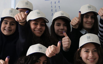 """""""I Am a Citizen – Student Councils in Lebanon"""" project, in partnership with the Ministry of Education and Higher Education (MEHE) and UNICEF"""